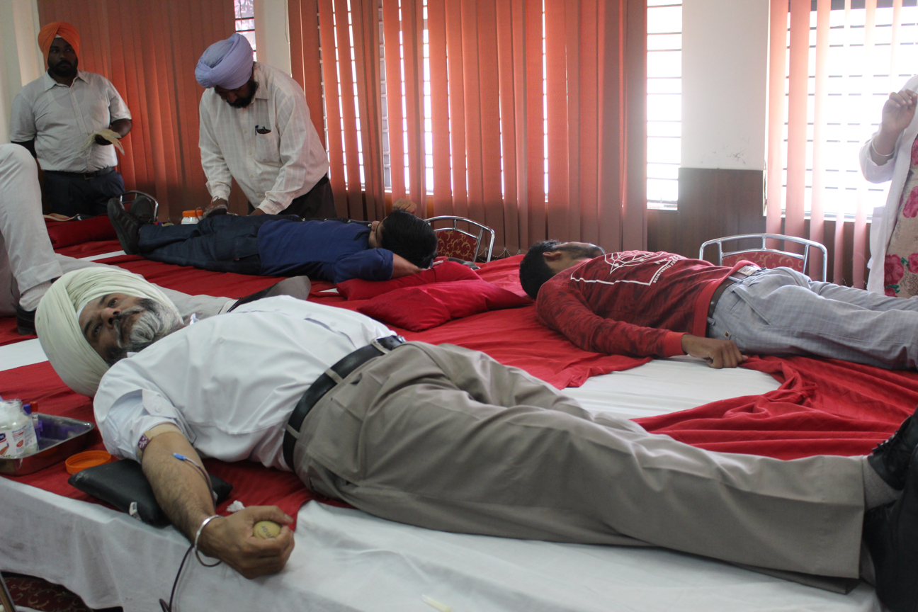 Blood Donation Camp at PSTCL